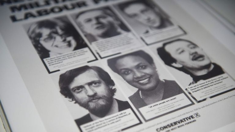 Old photos of Jeremy Corbyn, Diane Abbott Ken Livingstone on a Tory leaflet