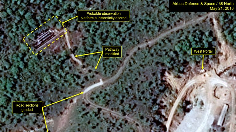 New satellite image of the Punggye-ri nuclear test site