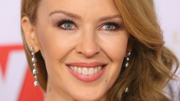 MELBOURNE, AUSTRALIA - APRIL 27:  Kylie Minogue arrives at the 2014 Logie Awards at Crown Palladium on April 27, 2014 in Melbourne, Australia.  (Photo by Scott Barbour/Getty Images)