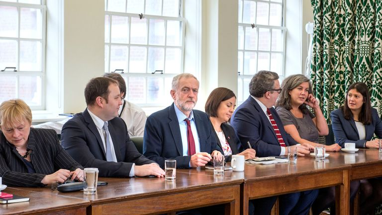 Labour shadow cabinet in January 2016