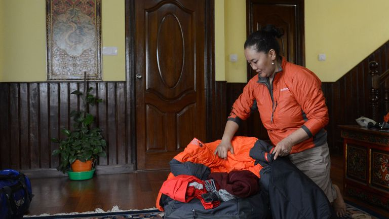 Lakpa Sherpa has climbed Mount Everest nine times