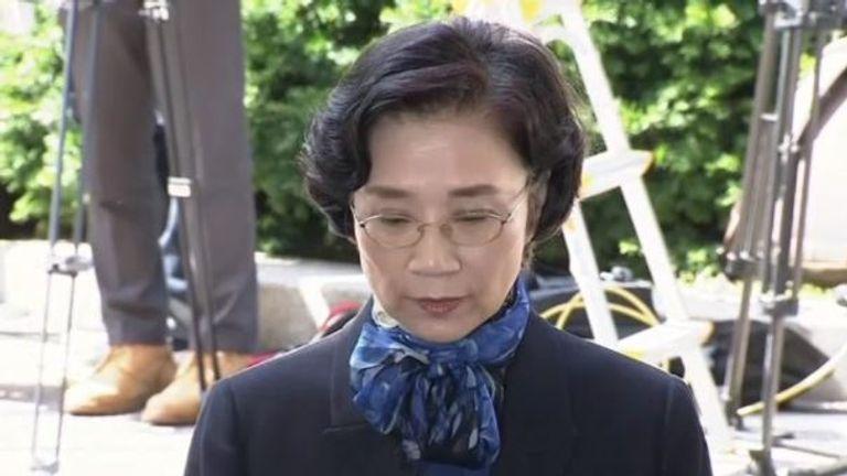 Lee Myung-hee, wife of Korean Air Chairman Cho Yang-ho