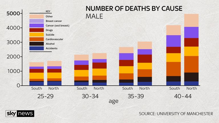 NUMBER OF DEATHS BY CAUSE MALE