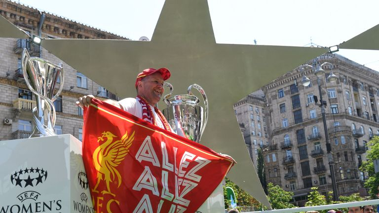 Many Liverpool fans have already arrived in Kiev