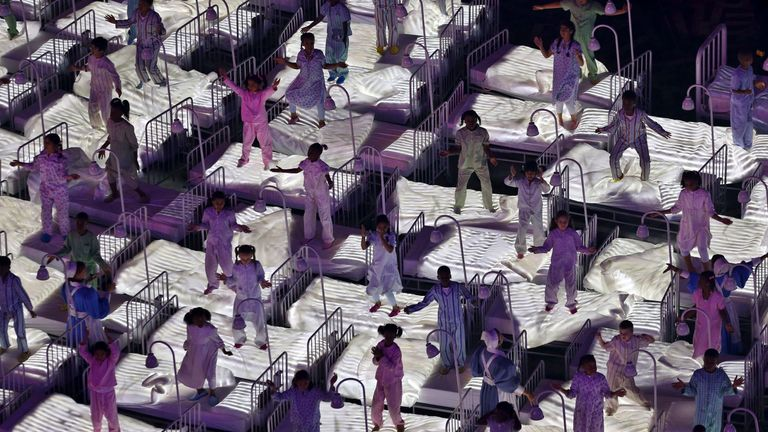 The NHS was celebrated during the London 2012 opening ceremony