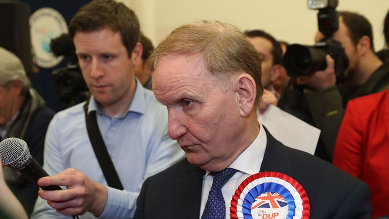 DUP party chairman Lord Morrow