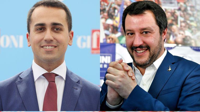 Luigi Di Maio, left, and Matteo Salvini say 'conditions have been met'