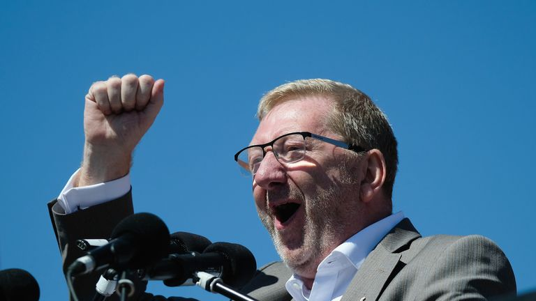 Len McCluskey held onto his post as leader