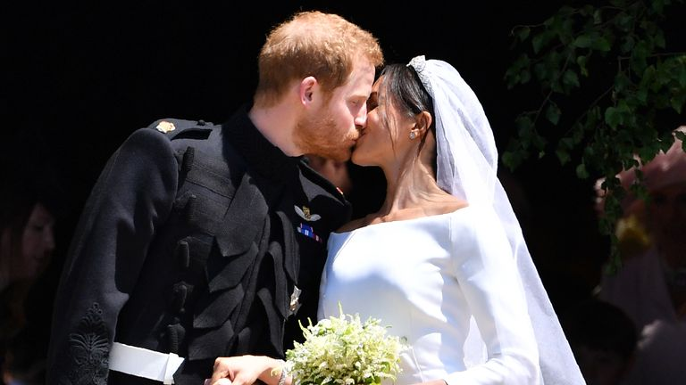 The bouquet included forget-me-nots - the Princess of Wales' favourite flower
