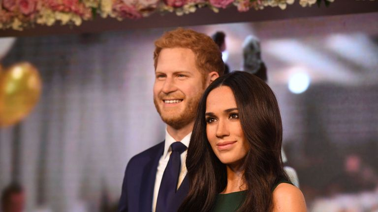 Meghan Markle's wax figure is unveiled alongside Prince Harry's at Madame Tussauds