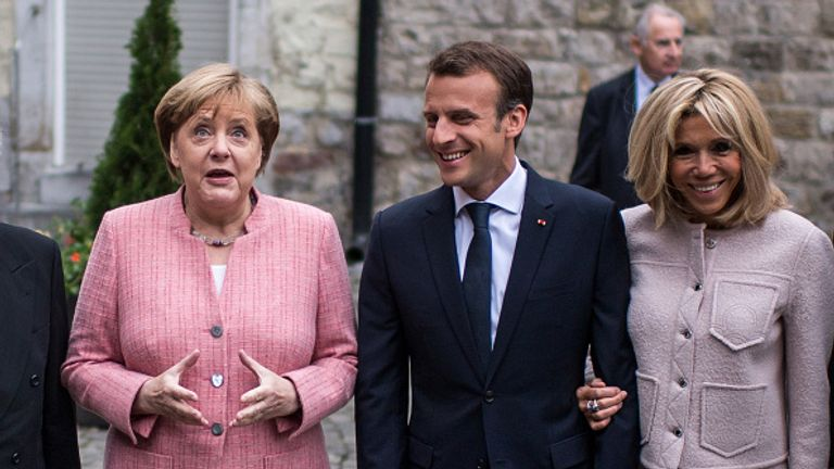 Merkel and Macron were in Aachen, Germany, on Thursday and called for a de-escalation in tensions in the Middle East
