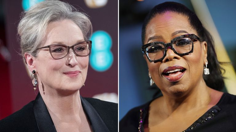 Meryl Streep and Oprah Winfrey are among the stars backing the campaign