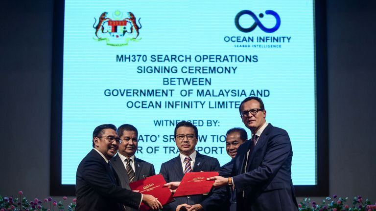 Texas-based Ocean Infinity signed a search deal with Malaysia for MH370 in January