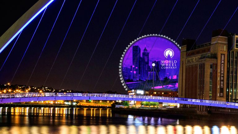 The Whey Aye will be 140m high, making it Europe's tallest observation wheel. Pic: World Wheel Company