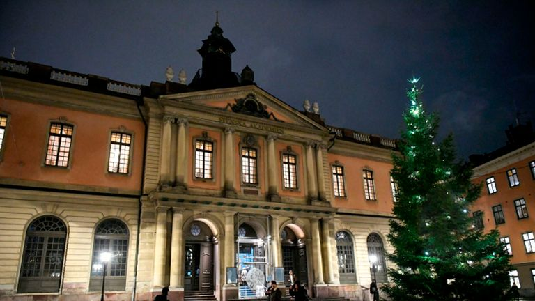 The Swedish Academy awards the Nobel Literature Prize