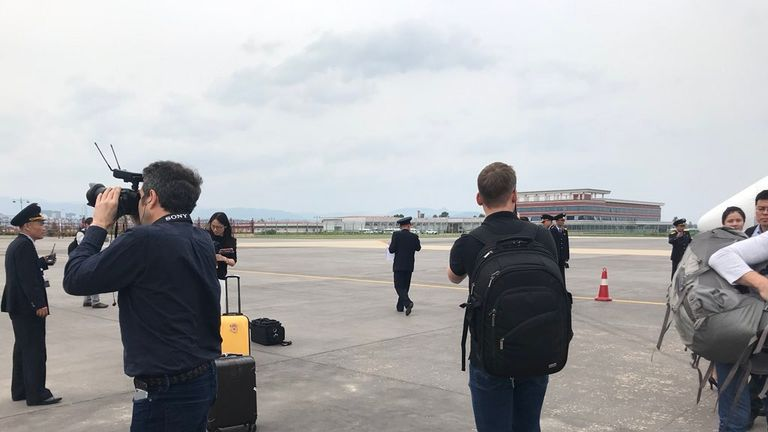 The journalists arrived in Wonsan on Tuesday. Pic: Tom Cheshire