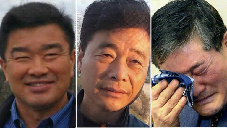 Tony Kim, Kim Hak-Song, and Kim Dong Chul