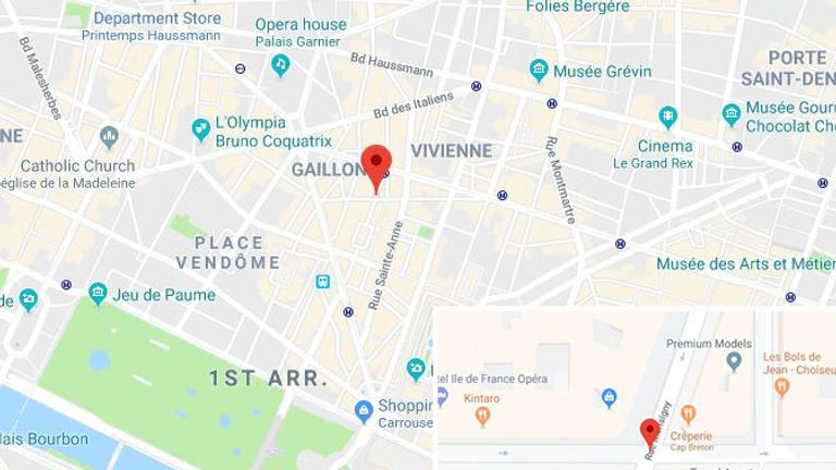 Bataclan Concert Hall Paris Map.Paris Attacker Was On Anti Terror Watchlist World News Sky News
