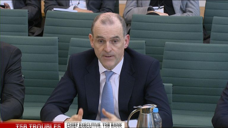 Paul Pester giving evidence to MPs