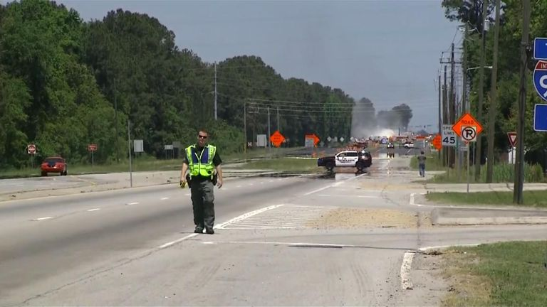 Parts of the highway could be closed for weeks