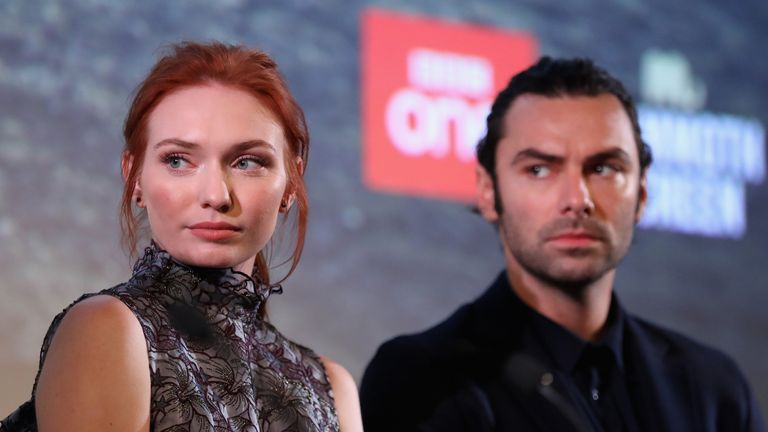 Poldark actress Eleanor Tomlinson has called for her pay to match that of her co-star Aidan Turner