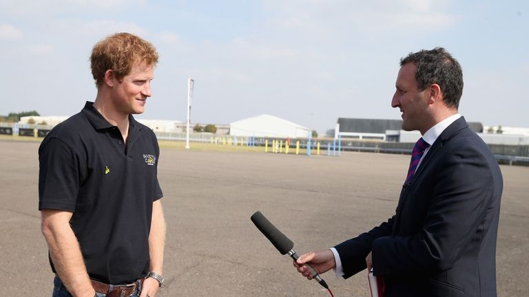 Paul interviewing Prince Harry