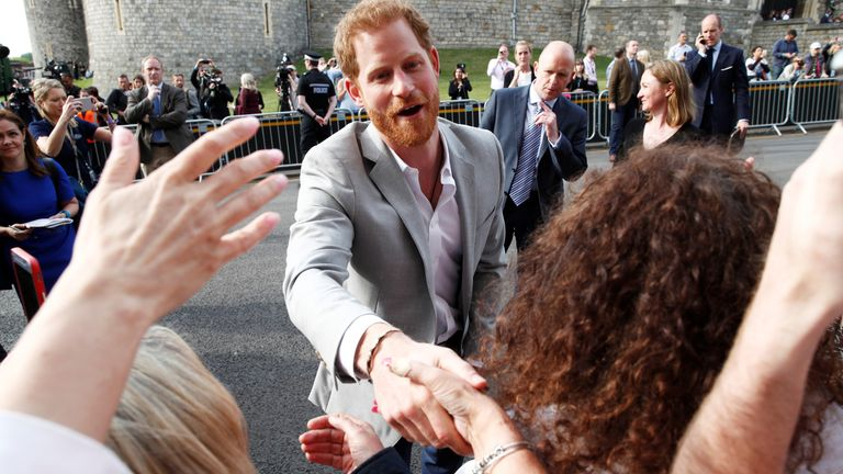 Prince Harry meets the crowds