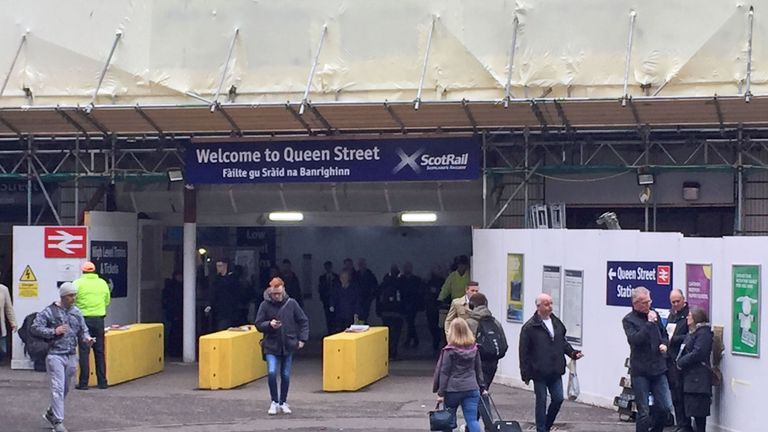 """Embargoed to 0001 Monday May 07 Queen Street Station in Glasgow has been given the lowest satisfaction score in a survey of 28,000 passengers. Only 58% of passengers say they are """"satisfied"""" with the city centre terminal, according to Transport Focus data obtained by the Press Association. PRESS ASSOCIATION Photo. Picture date: Monday May 7, 2018. The second worst score was given for the station serving Gatwick Airport (66%), followed by Oxford (67%) and Clapham Junction (69%). See PA story RAIL"""