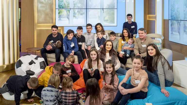 Britain's biggest family just got bigger as the Radford's welcomed their 20th child- Archie - into their family late last year (2017)