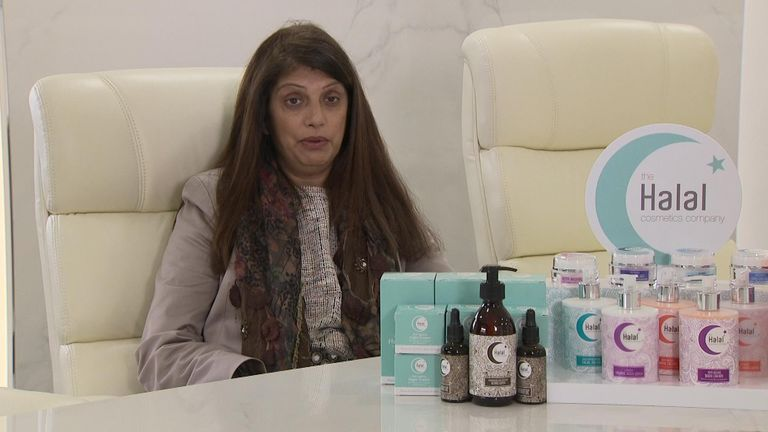 Salma Chaudhry, owner of The Halal Cosmetics Company, said her Eid set sold out quickly