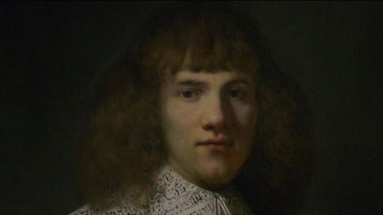 Newly discovered Rembrandt will be on display in Amsterdam for one month