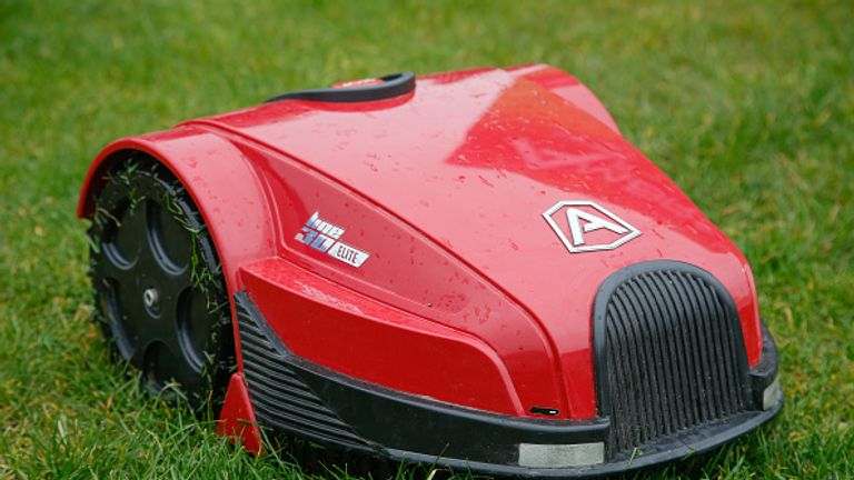 The robot mowers use GPS systems