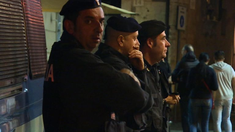 Extra police are on the streets of Rome