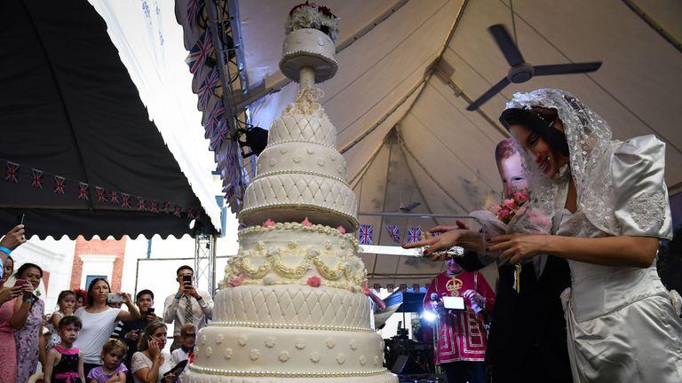 The British Club in Bangkok marked the wedding