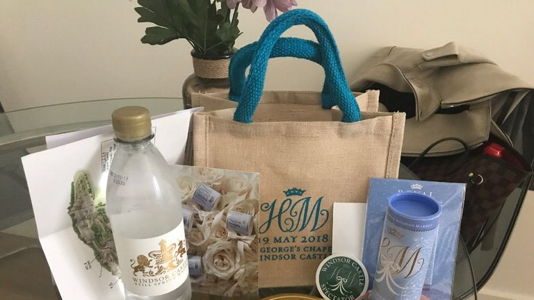 The royal wedding goodie bag