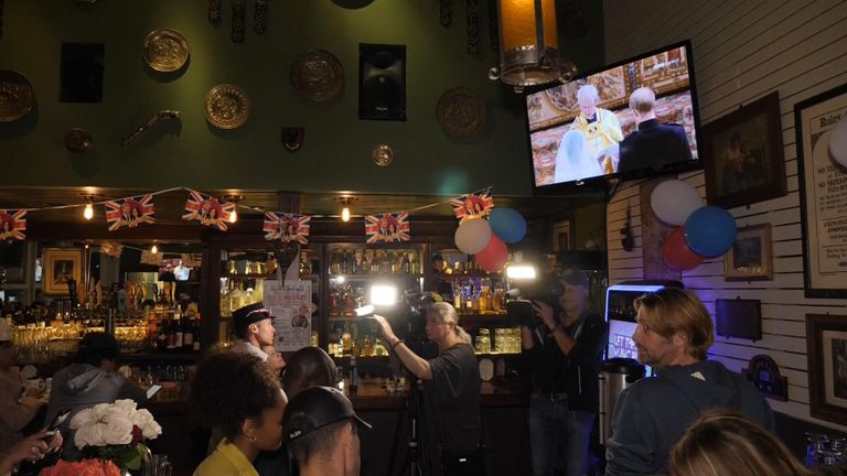 A royal wedding viewing party at the Cat and Fiddle in Los Angeles