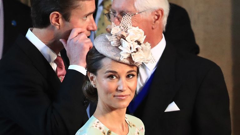 Pippa Middleton arrives at St George's Chapel