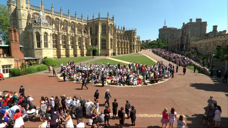 Tens of thousand of royal fans have descended on Windsor for the royal wedding