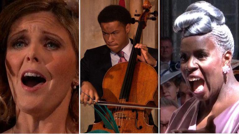 Cellist Sheku Kanneh Mason, soprano Elin Manahan Thomas and Kingdom Choir director Karen Gibson
