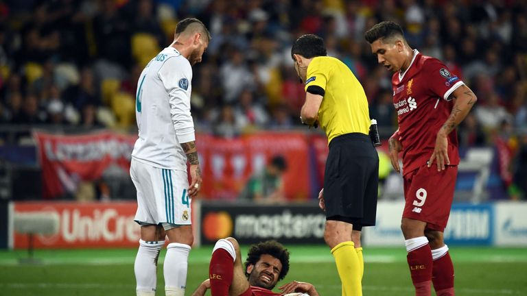 Mo Salah has been injured in the Champions League final
