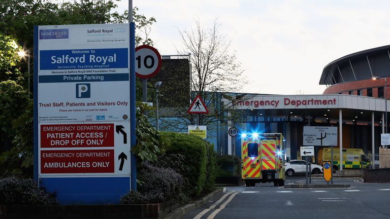 A general view of Salford Royal Hospital where Sir Alex Ferguson is recovering after undergoing emergency surgery for a brain haemorrhage on May 5, 2018 in Salford, England