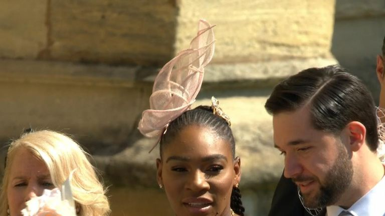 Serena Williams arrives at royal wedding