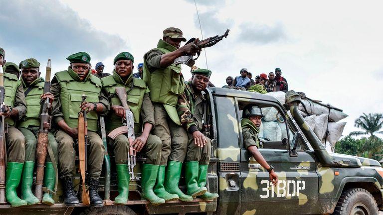 Soldiers in Democratic Republic of Congo