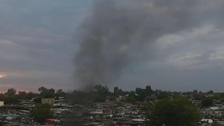 Diepsloot slum is on the edge of on the edge of Johannesburg