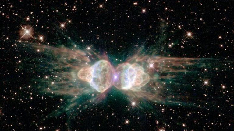 The origin of the laser, the Ant Nebula. Pic: NASA, ESA and the Hubble Heritage Team