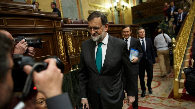 Mr Rajoy has said he will not step down before the vote