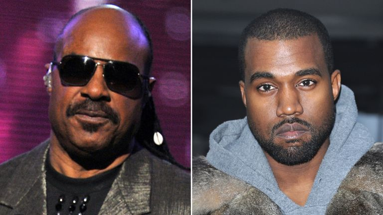 Stevie Wonder (L) has criticised Kanye West for his comments on slavery
