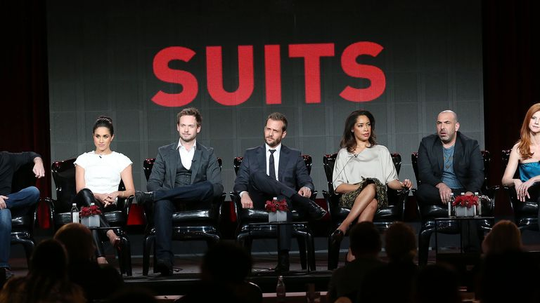 The cast and crew of US TV show Suits