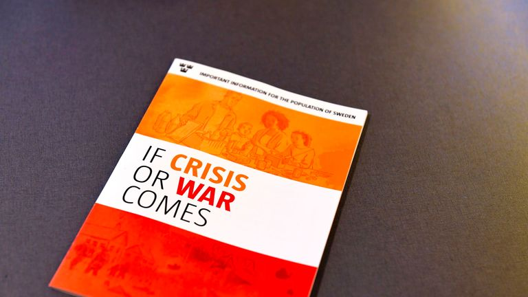 The new brochure 'If Crisis or War Comes' will be distributed
