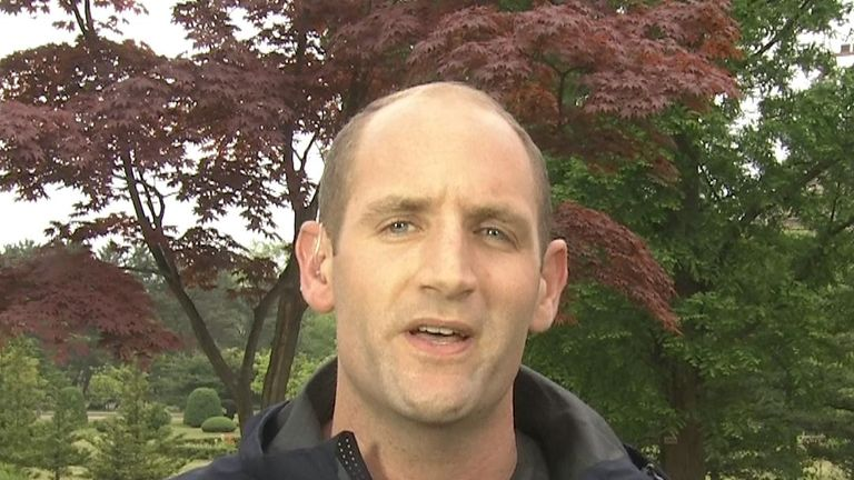 Sky's Asia Correspondent Tom Cheshire in North Korea